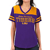 Touch by Alyssa Milano Women's LSU Tigers Purple Fair Shutout V-Neck T-Shirt
