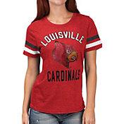 G-III For Her Women's Louisville Cardinals Cardinal Red Extra Point T-Shirt