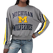 G-III For Her Women's Michigan Wolverines Grey Freshman Crew Neck Sweatshirt