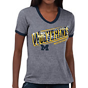 Touch by Alyssa Milano Women's Michigan Wolverines Grey Sequin Free Throw T-Shirt