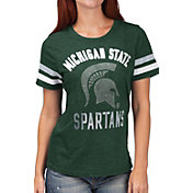 G-III For Her Women's Michigan State Spartans Green Extra Point T-Shirt