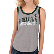 Touch by Alyssa Milano Women's Michigan State Spartans Grey Varsity Tank Top
