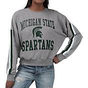 G-III For Her Women's Michigan State Spartans Grey Freshman Crew Neck Sweatshirt