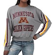 G-III For Her Women's Minnesota Golden Gophers Grey Freshman Crew Neck Sweatshirt