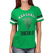 G-III For Her Women's Marshall Thundering Herd Green Extra Point T-Shirt