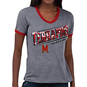 Touch by Alyssa Milano Women's Maryland Terrapins Grey Sequin Free Throw T-Shirt