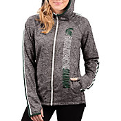 G-III For Her Women's Michigan State Spartans Grey Free Agent Full-Zip Hoodie