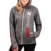 G-III For Her Women's Nebraska Cornhuskers Grey Free Agent Full-Zip Hoodie