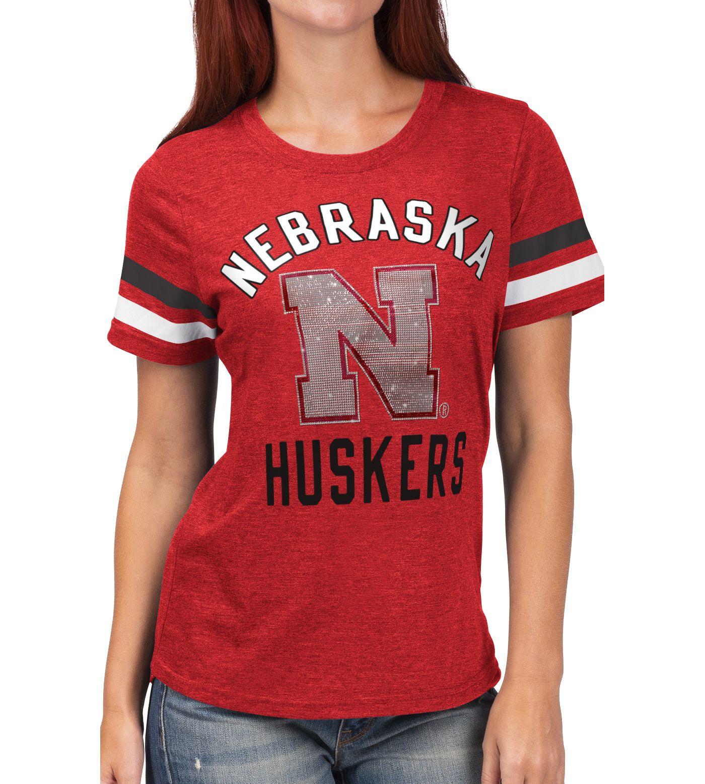 G-III For Her Women's Nebraska Cornhuskers Scarlet Extra Point T-Shirt
