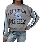 G-III For Her Women's North Carolina Tar Heels Grey Freshman Crew Neck Sweatshirt