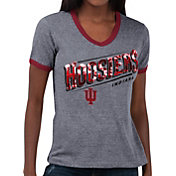 Touch by Alyssa Milano Women's Indiana Hoosiers Grey Sequin Free Throw T-Shirt