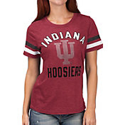 G-III For Her Women's Indiana Hoosiers Crimson Extra Point T-Shirt