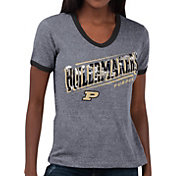 Touch by Alyssa Milano Women's Purdue Boilermakers Grey Sequin Free Throw T-Shirt