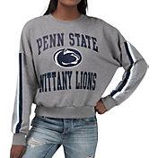 G-III For Her Women's Penn State Nittany Lions Grey Freshman Crew Neck Sweatshirt