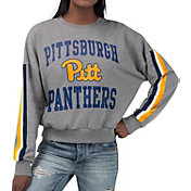 G-III For Her Women's Pitt Panthers Grey Freshman Crew Neck Sweatshirt