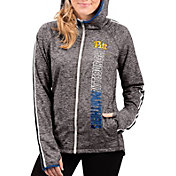 G-III For Her Women's Pitt Panthers Grey Free Agent Full-Zip Hoodie