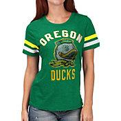 G-III For Her Women's Oregon Ducks Green Extra Point T-Shirt