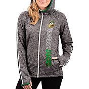 G-III For Her Women's Oregon Ducks Grey Free Agent Full-Zip Hoodie