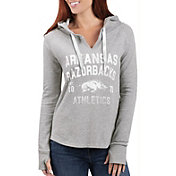 G-III For Her Women's Arkansas Razorbacks Grey Touchdown Pullover Hoodie