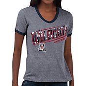 Touch by Alyssa Milano Women's Arizona Wildcats Grey Sequin Free Throw T-Shirt