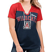 G-III For Her Women's Arizona Wildcats Navy Shuffle Lace V-Neck T-Shirt