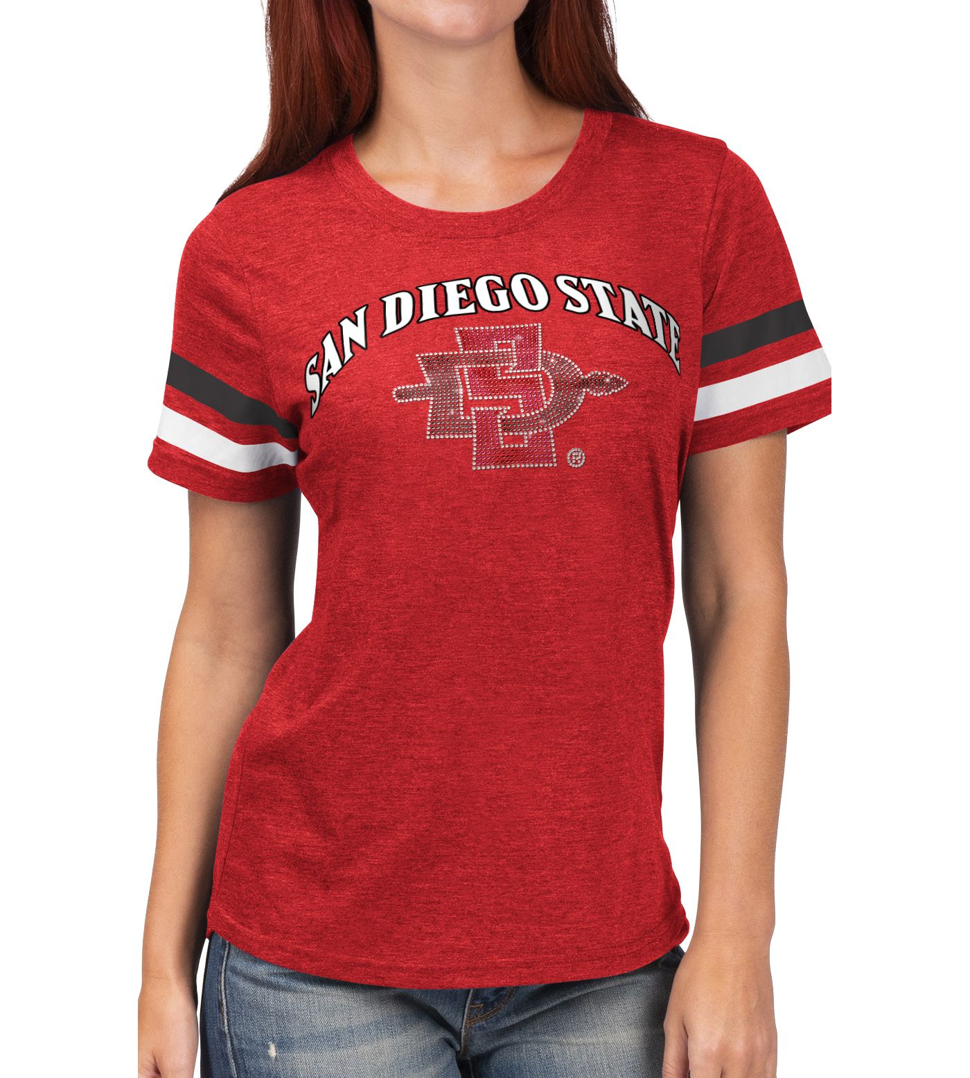 G-III For Her Women's San Diego State Aztecs Scarlet Extra Point T-Shirt
