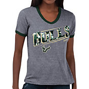 Touch by Alyssa Milano Women's South Florida Bulls Grey Sequin Free Throw T-Shirt