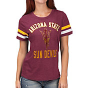 G-III For Her Women's Arizona State Sun Devils Maroon Extra Point T-Shirt
