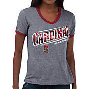 Touch by Alyssa Milano Women's Stanford Cardinal Grey Sequin Free Throw T-Shirt