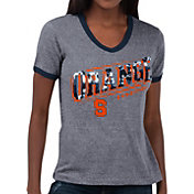 Touch by Alyssa Milano Women's Syracuse Orange Grey Sequin Free Throw T-Shirt