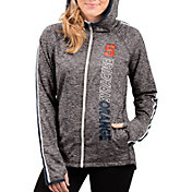 G-III For Her Women's Syracuse Orange Grey Free Agent Full-Zip Hoodie