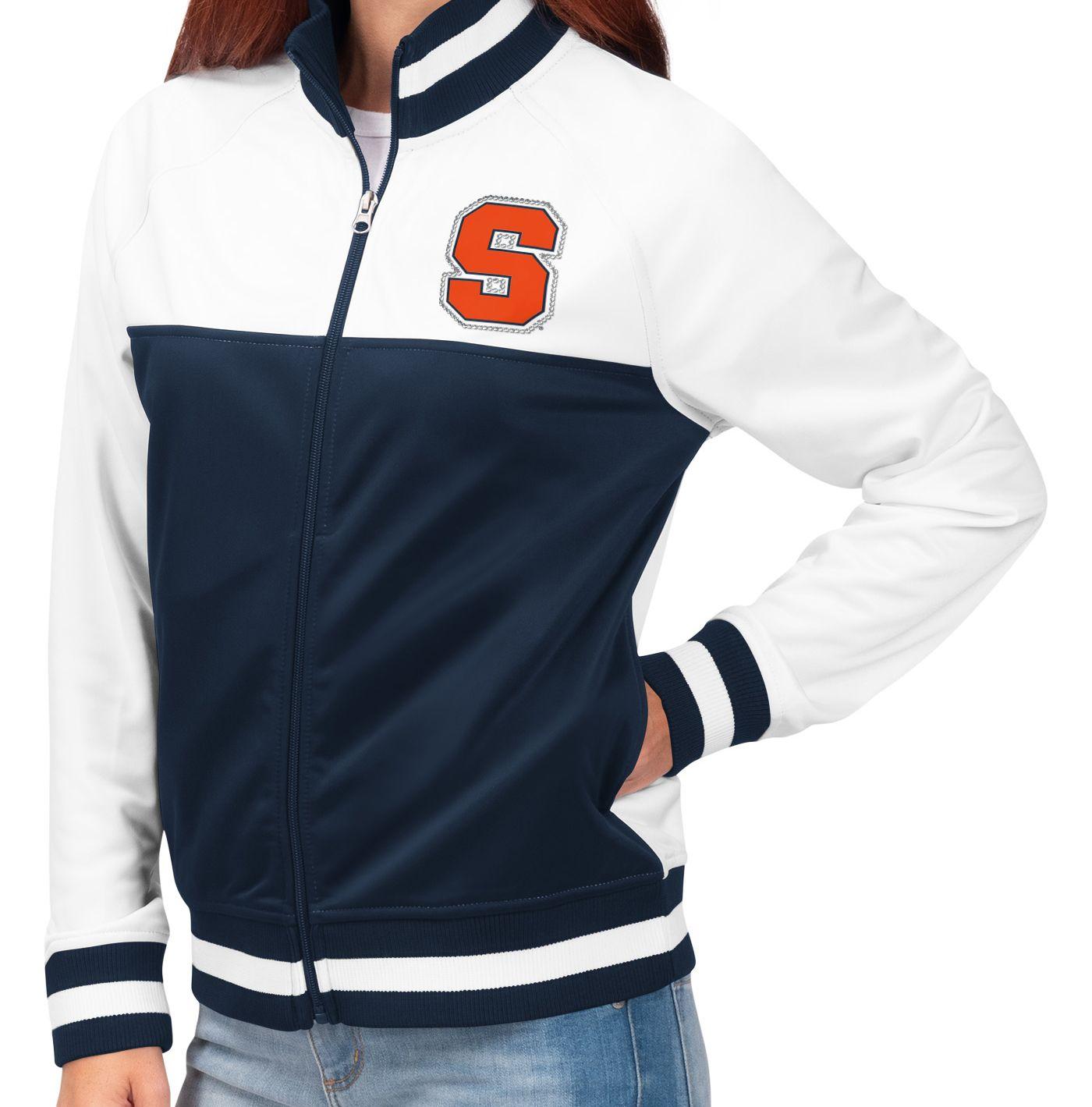 G-III For Her Women's Syracuse Orange Blue/White Face Off Full-Zip Jacket