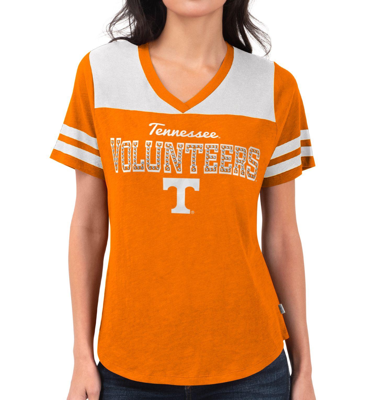 Touch by Alyssa Milano Women's Tennessee Volunteers Tennessee Orange Fair Shutout V-Neck T-Shirt