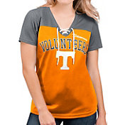 G-III For Her Women's Tennessee Volunteers Tennessee Orange Shuffle Lace V-Neck T-Shirt
