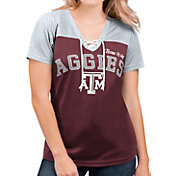 G-III For Her Women's Texas A&M Aggies Maroon Shuffle Lace V-Neck T-Shirt
