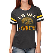 G-III For Her Women's Iowa Hawkeyes Extra Point Black T-Shirt