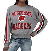 G-III For Her Women's Wisconsin Badgers Grey Freshman Crew Neck Sweatshirt