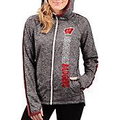 G-III For Her Women's Wisconsin Badgers Grey Free Agent Full-Zip Hoodie