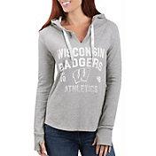 G-III For Her Women's Wisconsin Badgers Grey Touchdown Pullover Hoodie