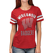 G-III For Her Women's Wisconsin Badgers Red Extra Point T-Shirt
