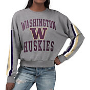 G-III For Her Women's Washington Huskies Grey Freshman Crew Neck Sweatshirt