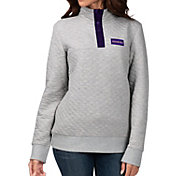 G-III For Her Women's Washington Huskies Grey First Hit Quarter-Button Pullover Top
