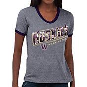 Touch by Alyssa Milano Women's Washington Huskies Grey Sequin Free Throw T-Shirt