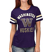 G-III For Her Women's Washington Huskies Purple Extra Point T-Shirt