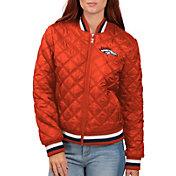 G-III for Her Women's Denver Broncos Goal Line Full-Zip Bomber Jacket