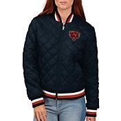 G-III for Her Women's Chicago Bears Goal Line Full-Zip Bomber Jacket
