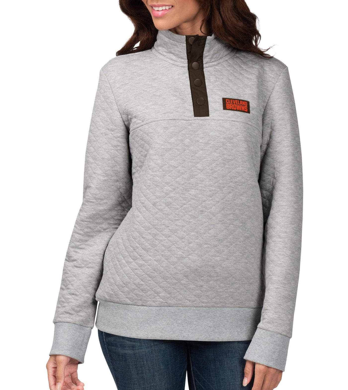 G-III for Her Women's Cleveland Browns First Hit Quilted Pullover Jacket