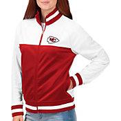 G-III for Her Women's Kansas City Chiefs Faceoff Rhinestone Full-Zip Track Jacket