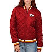 G-III for Her Women's Kansas City Chiefs Goal Line Full-Zip Bomber Jacket