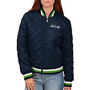 G-III for Her Women's Seattle Seahawks Goal Line Full-Zip Bomber Jacket